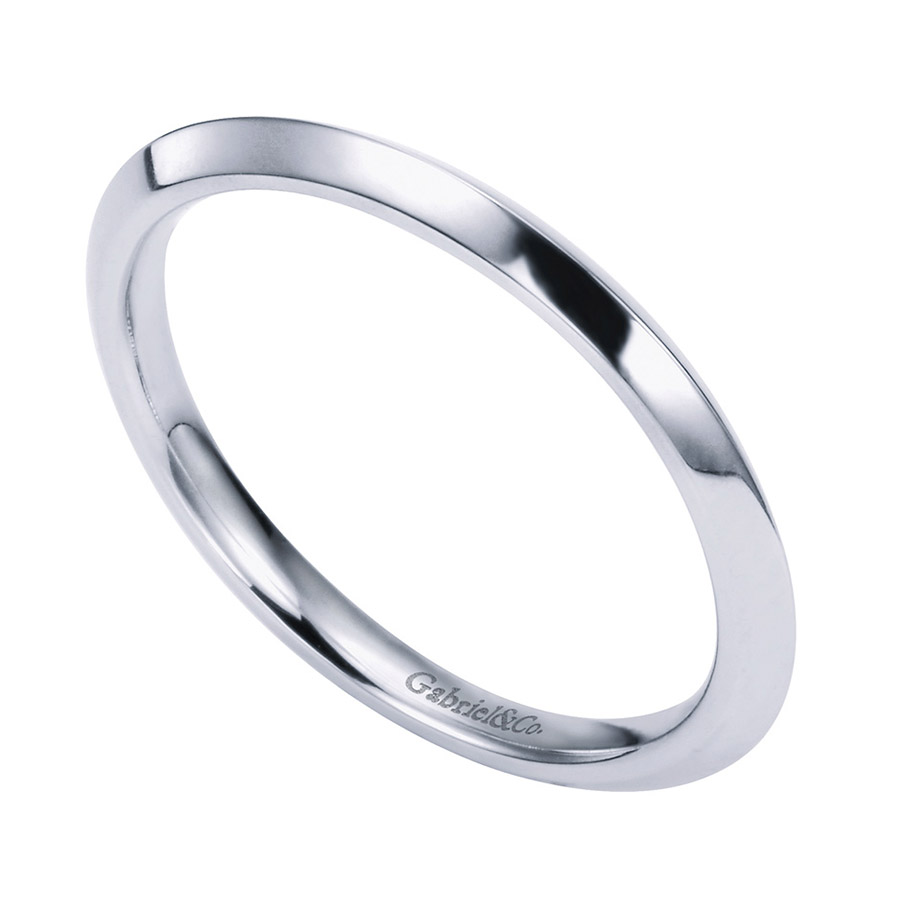 Gabriel Platinum Contemporary Wedding Band WB6686PTJJJ Alternative View 2