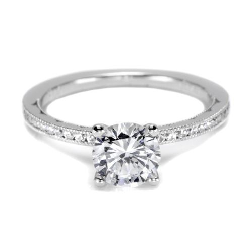 44-15RD65 Tacori Crescent 18 Karat Engagement Ring
