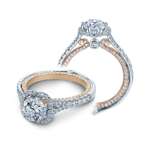 Verragio Couture-0427DR-TT Platinum Engagement Ring