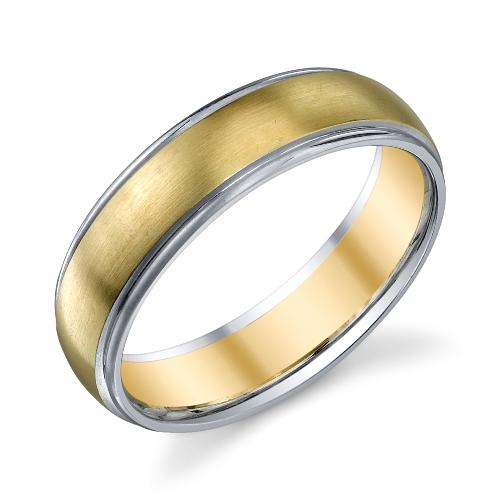273012 Christian Bauer 14 Karat Two Tone Wedding Ring Band Tq