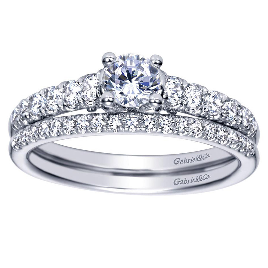Gabriel 14 Karat Contemporary Engagement Ring ER98676W44JJ Alternative View 3