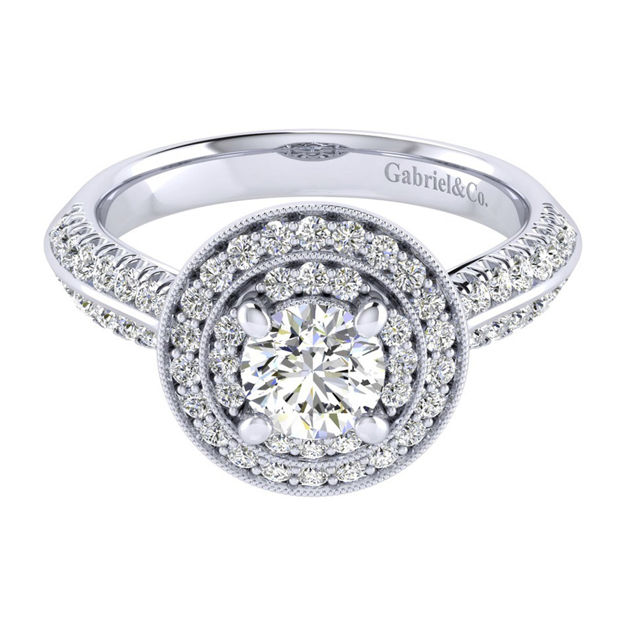 Gabriel 14 Karat Perfect Match Engagement Ring ER002B3AHW44JJ