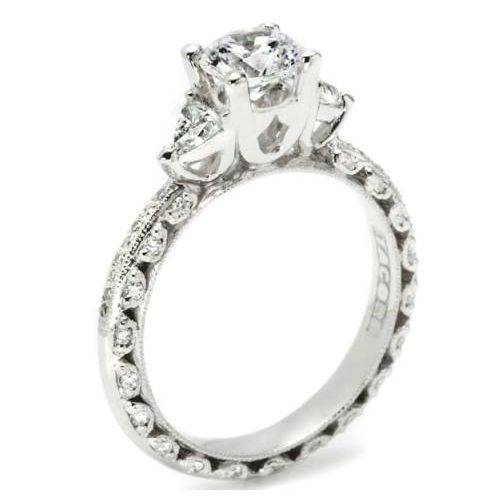 Tacori Crescent 18 Karat Engagement Ring HT2367P Alternative View 1