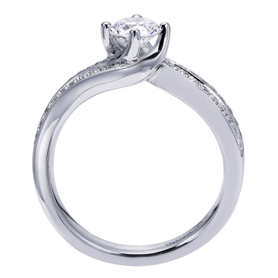 Gabriel 14 Karat Contemporary Engagement Ring ER96294W44JJ Alternative View 1