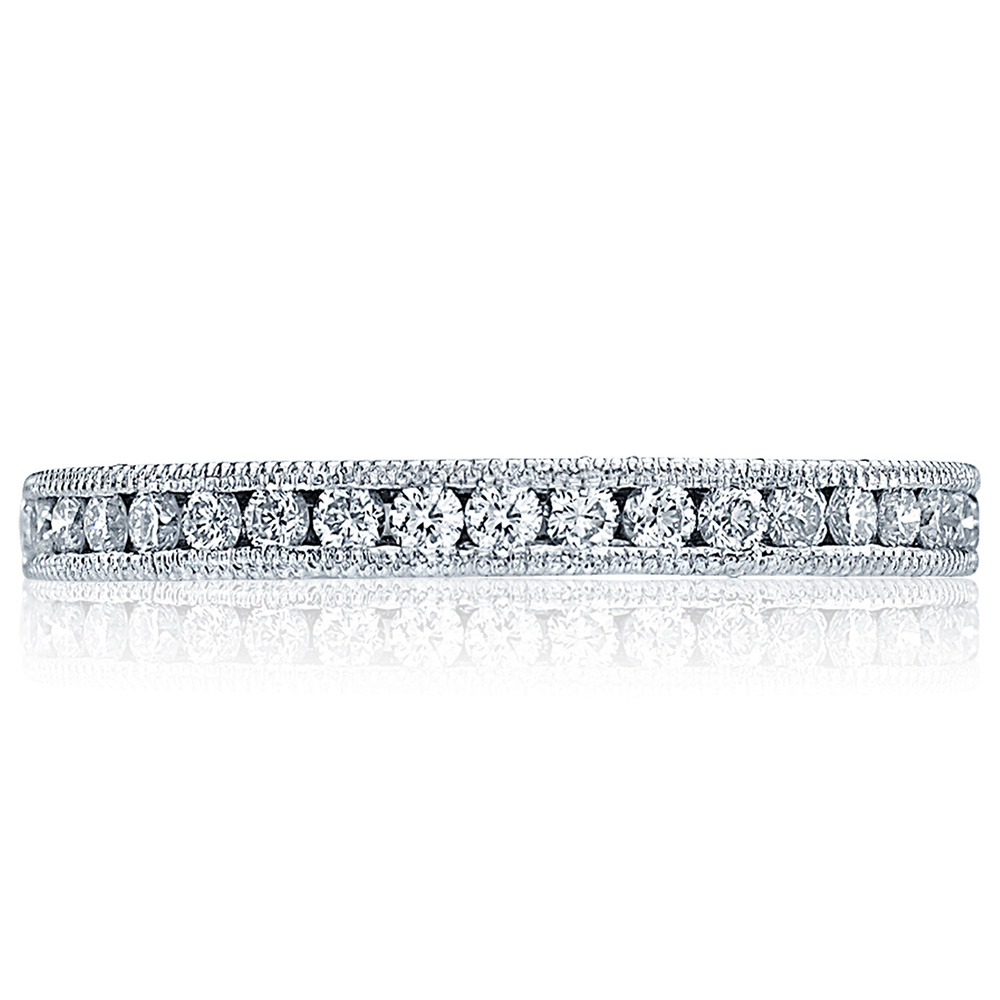 HT2521B12X Platinum Tacori Blooming Beauties Diamond Wedding Ring