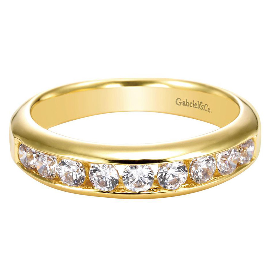Gabriel 14 Karat Contemporary Wedding Band WB3962Y44JJ