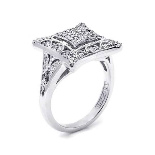 Tacori Diamond Ring Platinum Fine Jewelry FR804 Alternative View 1