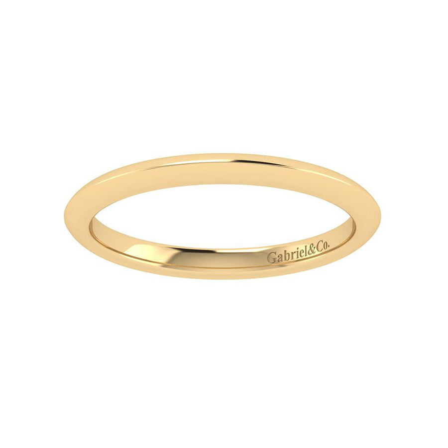Gabriel 14 Karat Contemporary Wedding Band WB7737Y4JJJ Alternative View 4