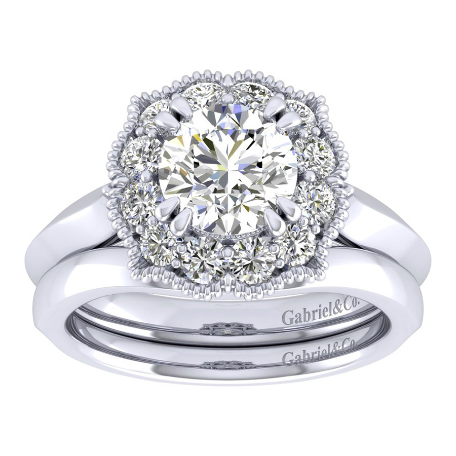 Gabriel 14 Karat Perfect Match Engagement Ring ER001C6ACW44JJ Alternative View 3