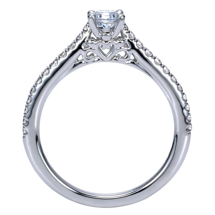 Gabriel 14 Karat Contemporary Engagement Ring ER98574W44JJ Alternative View 1