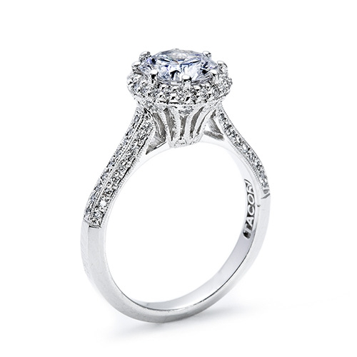 Tacori Platinum Solitaire Engagement Ring 2502RDP7 Alternative View 3