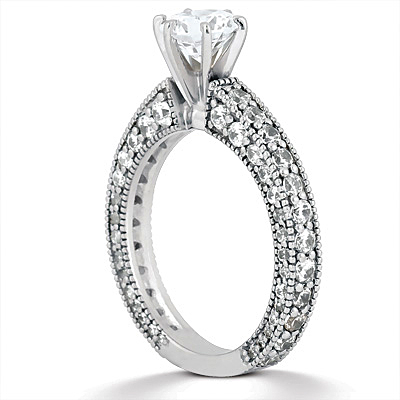 Taryn Collection Platinum Diamond Engagement Ring TQD A-5521 Alternative View 2