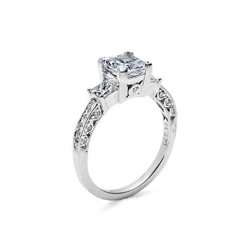 Tacori 18 Karat Crescent Engagement Ring HT2264 Alternative View 1