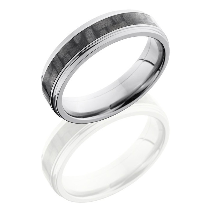 Lashbrook C6fge13 Cf Polish Anium Carbon Fiber Wedding Ring Or Band