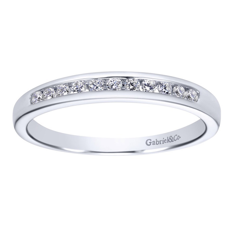 Gabriel 14 Karat Contemporary Wedding Band WB2633PT3JJ Alternative View 4
