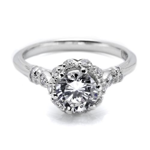 Tacori Platinum Simply Tacori Engagement Ring HT2299 Alternative View 2