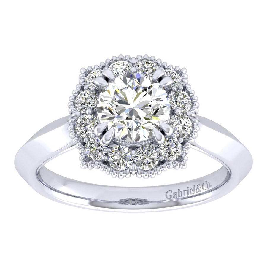 Gabriel 14 Karat Perfect Match Engagement Ring ER001B4ACW44JJ Alternative View 4