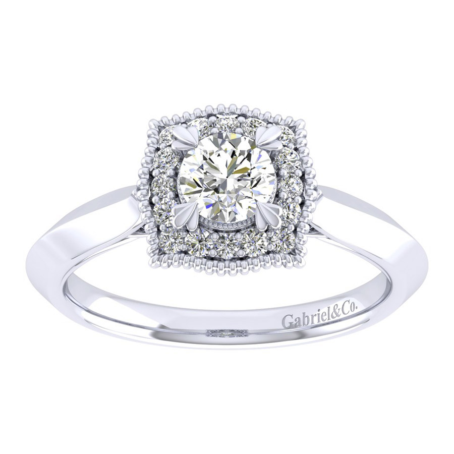Gabriel 14 Karat Perfect Match Engagement Ring ER001A2AAW44JJ Alternative View 4