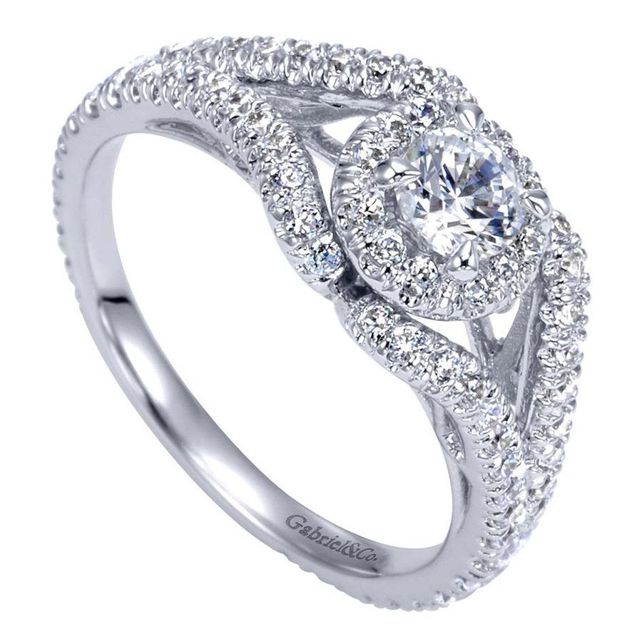 Gabriel 14 Karat Contemporary Engagement Ring ER98506W44JJ Alternative View 2