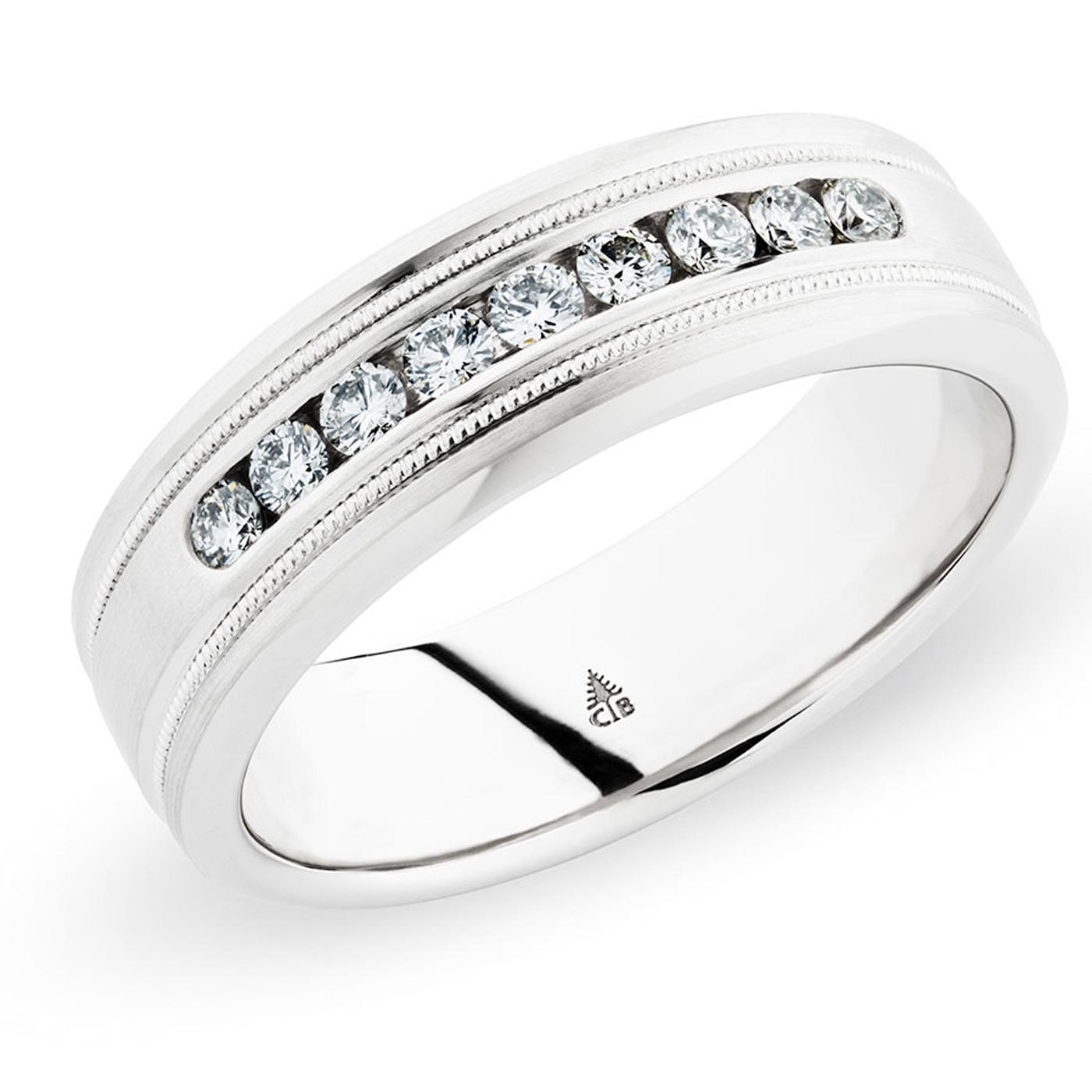 245451 christian bauer palladium diamond wedding ring for Christian bauer wedding rings