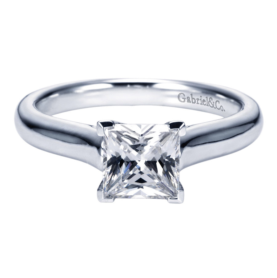 Gabriel Platinum Contemporary Engagement Ring ER6606PTJJJ