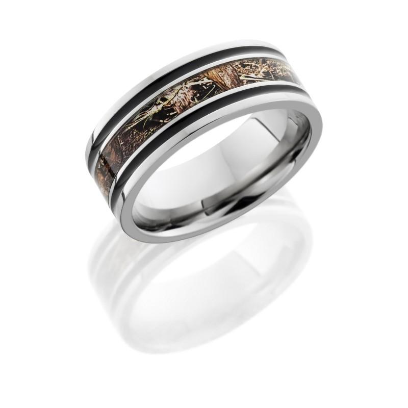 Lashbrook 8F1321A DUCKBLIND POLISH Titanium Wedding Ring Or Band