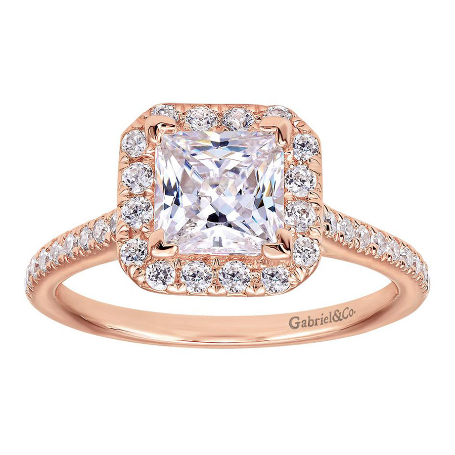 Gabriel 14 Karat Contemporary Engagement Ring ER7266K44JJ Alternative View 4