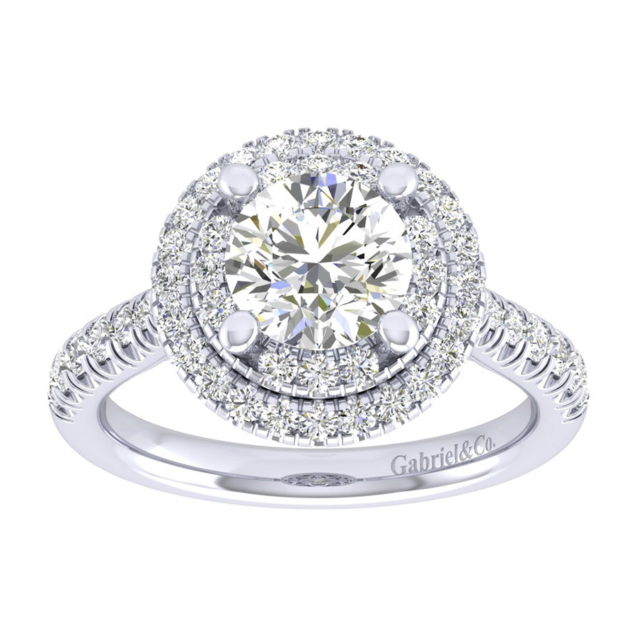 Gabriel 14 Karat Perfect Match Engagement Ring ER039C6AIW44JJ Alternative View 4