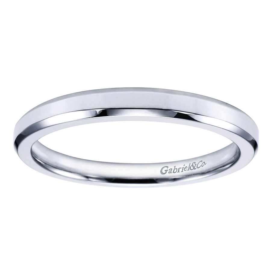 Gabriel Platinum Contemporary Wedding Band WB6591PTJJJ Alternative View 4