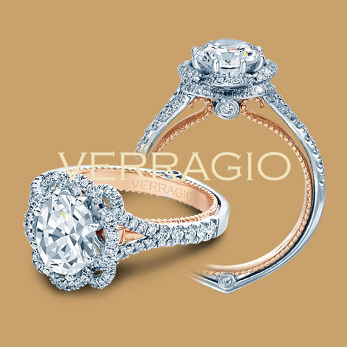 Verragio Couture-0426OV-TT 14 Karat Engagement Ring Alternative View 3