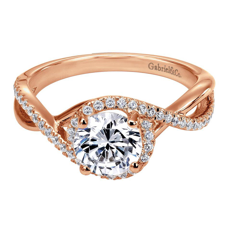 Gabriel 14 Karat Contemporary Engagement Ring ER7804K44JJ