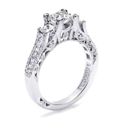 Tacori Crescent 18 Karat Engagement Ring HT2514PR512X Alternative View 1