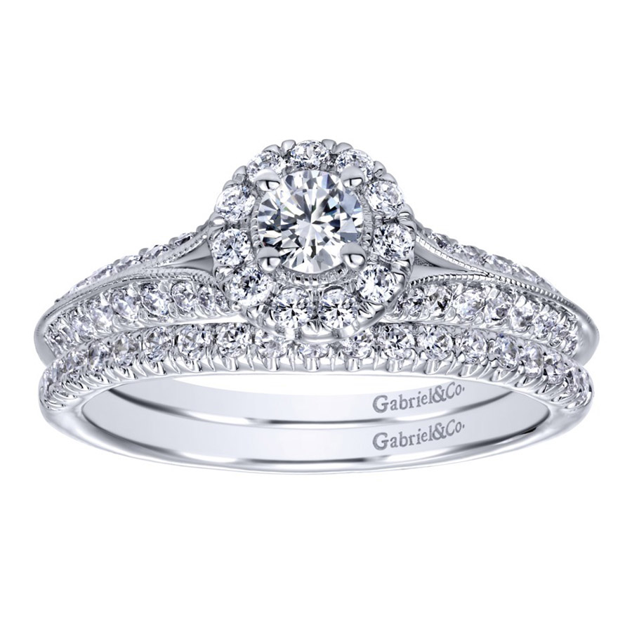 Gabriel 14 Karat Contemporary Engagement Ring ER910936W44JJ Alternative View 3