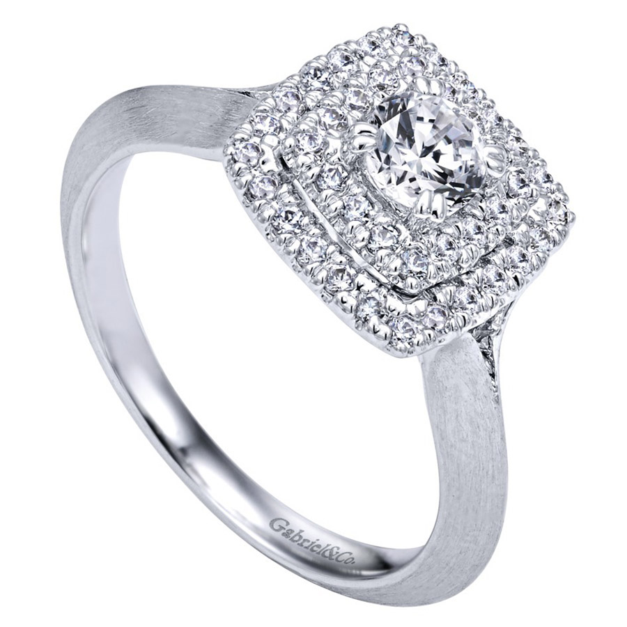 Gabriel 14 Karat Contemporary Engagement Ring ER910159W44JJ Alternative View 2