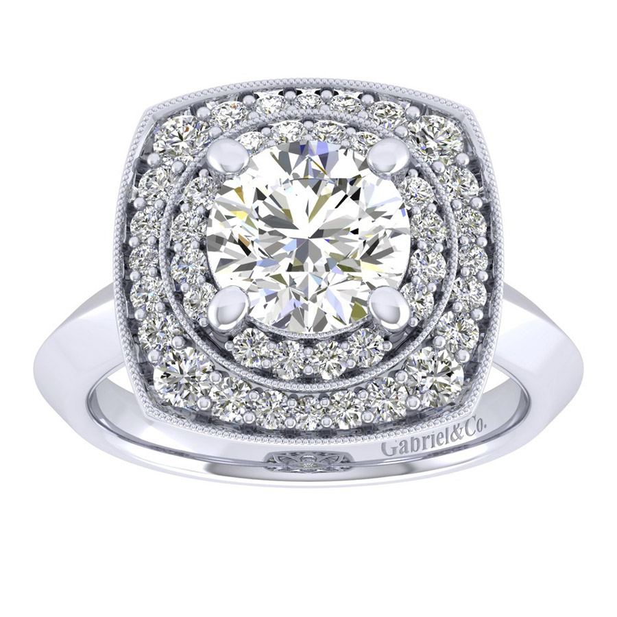 Gabriel 14 Karat Perfect Match Engagement Ring ER001C8AFW44JJ Alternative View 4