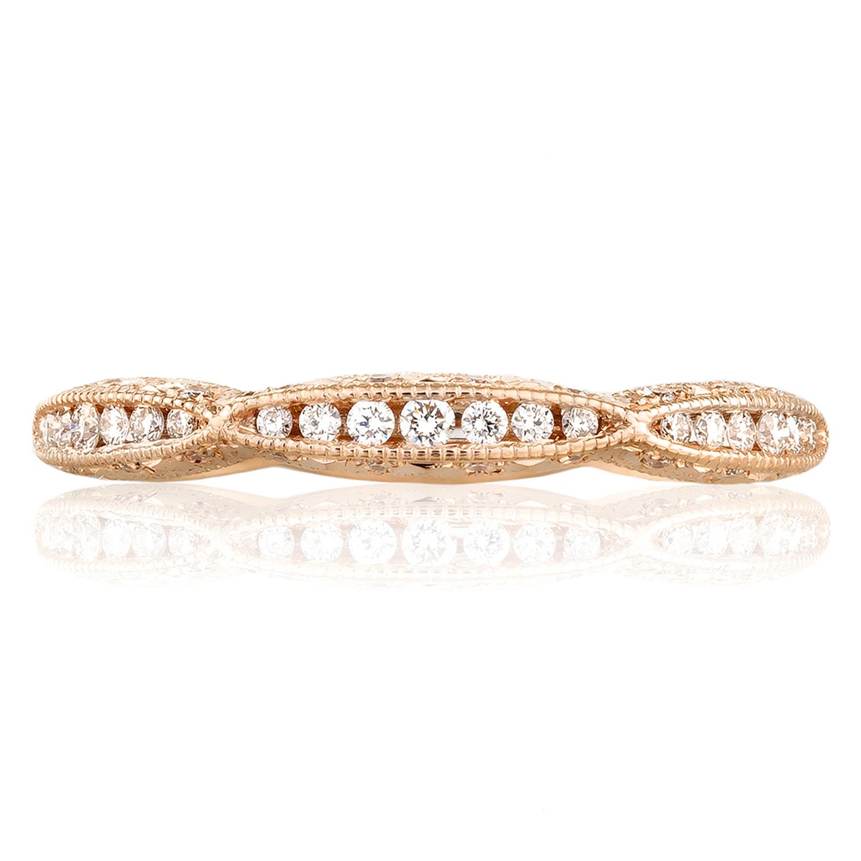 Tacori 2645b12pk 18 Karat Pretty In Pink Diamond Wedding Band