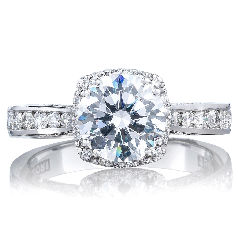 Engagement Rings Tacori: 2646-3RDC75 Platinum Tacori Dantela Engagement Ring