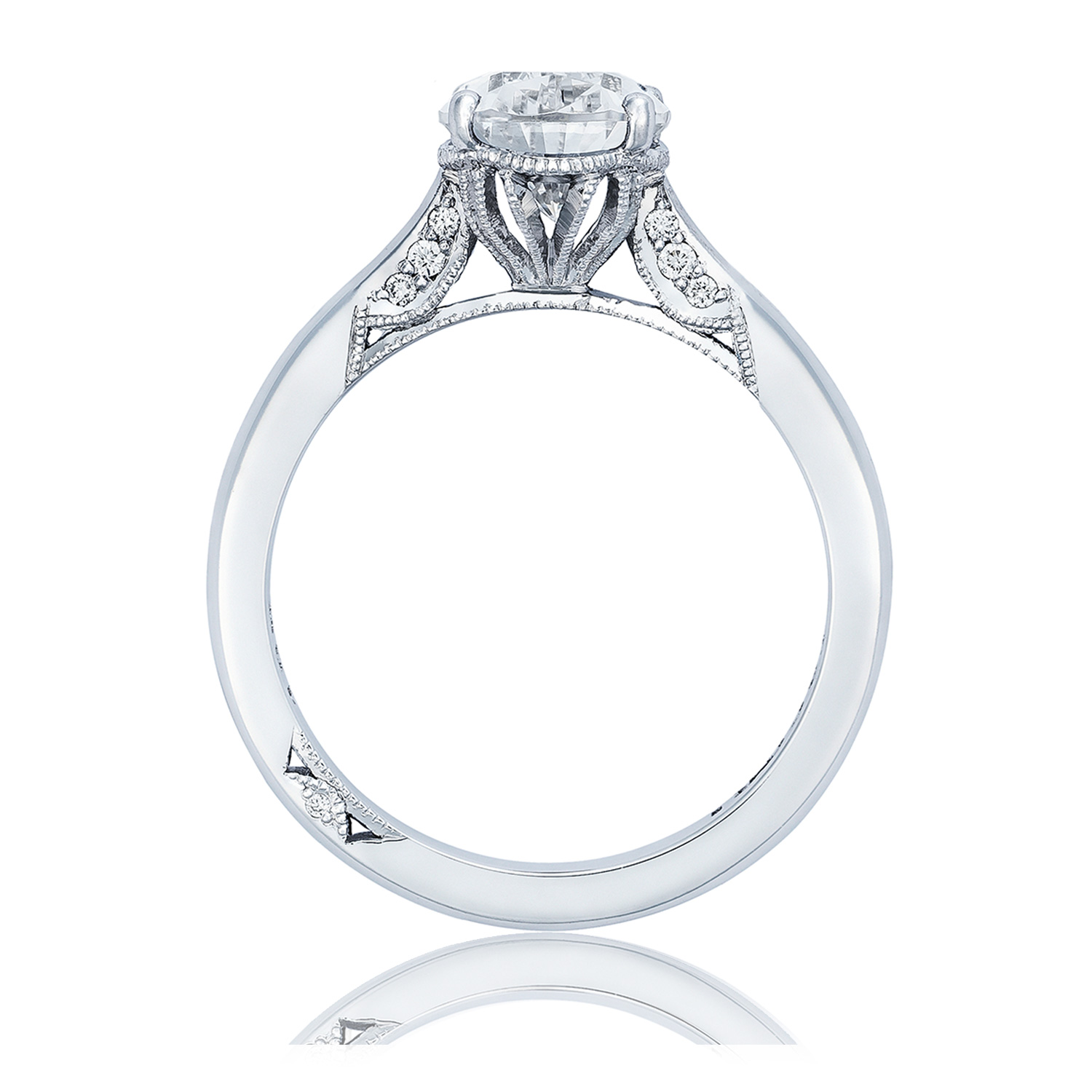 2650PS10X7 Platinum Simply Tacori Engagement Ring Alternative View 1