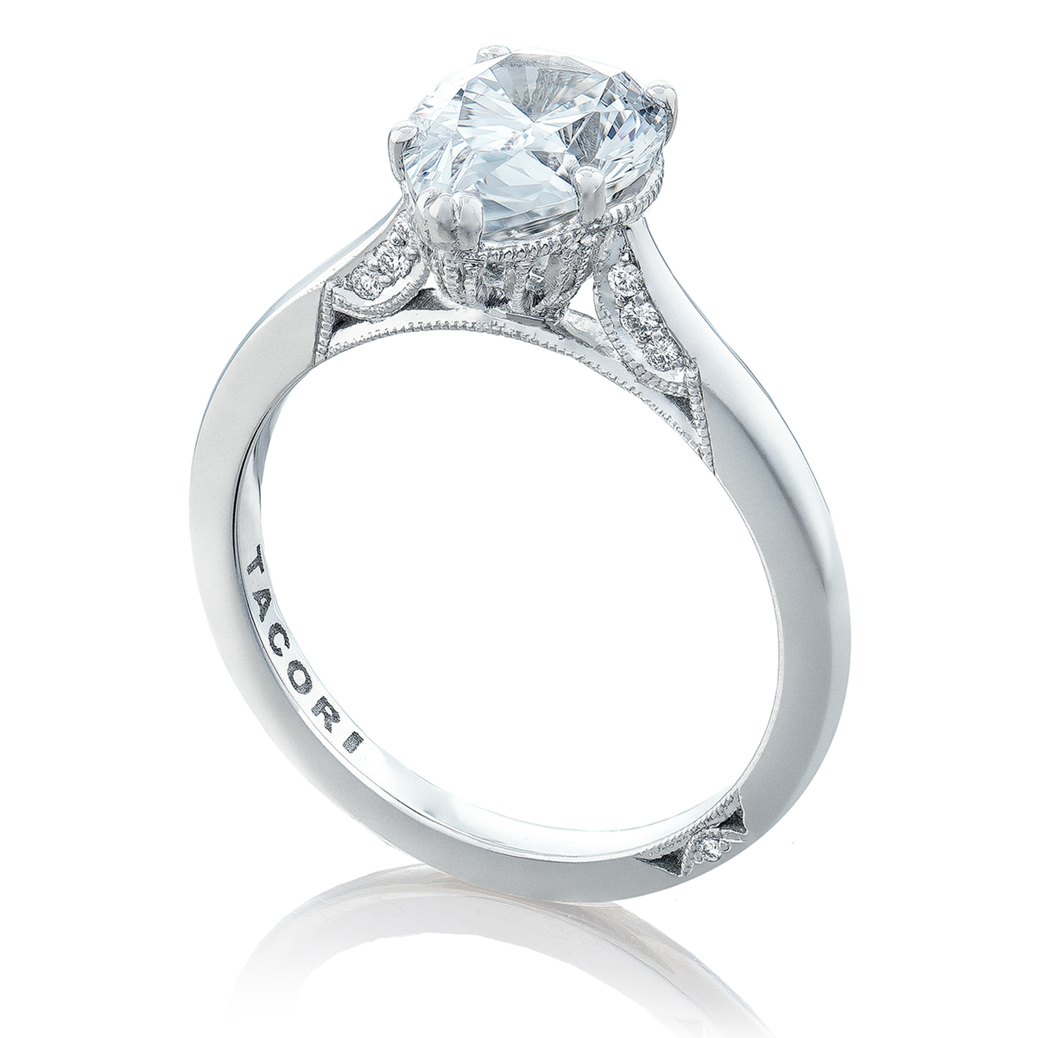 2650PS10X7 Platinum Simply Tacori Engagement Ring Alternative View 2