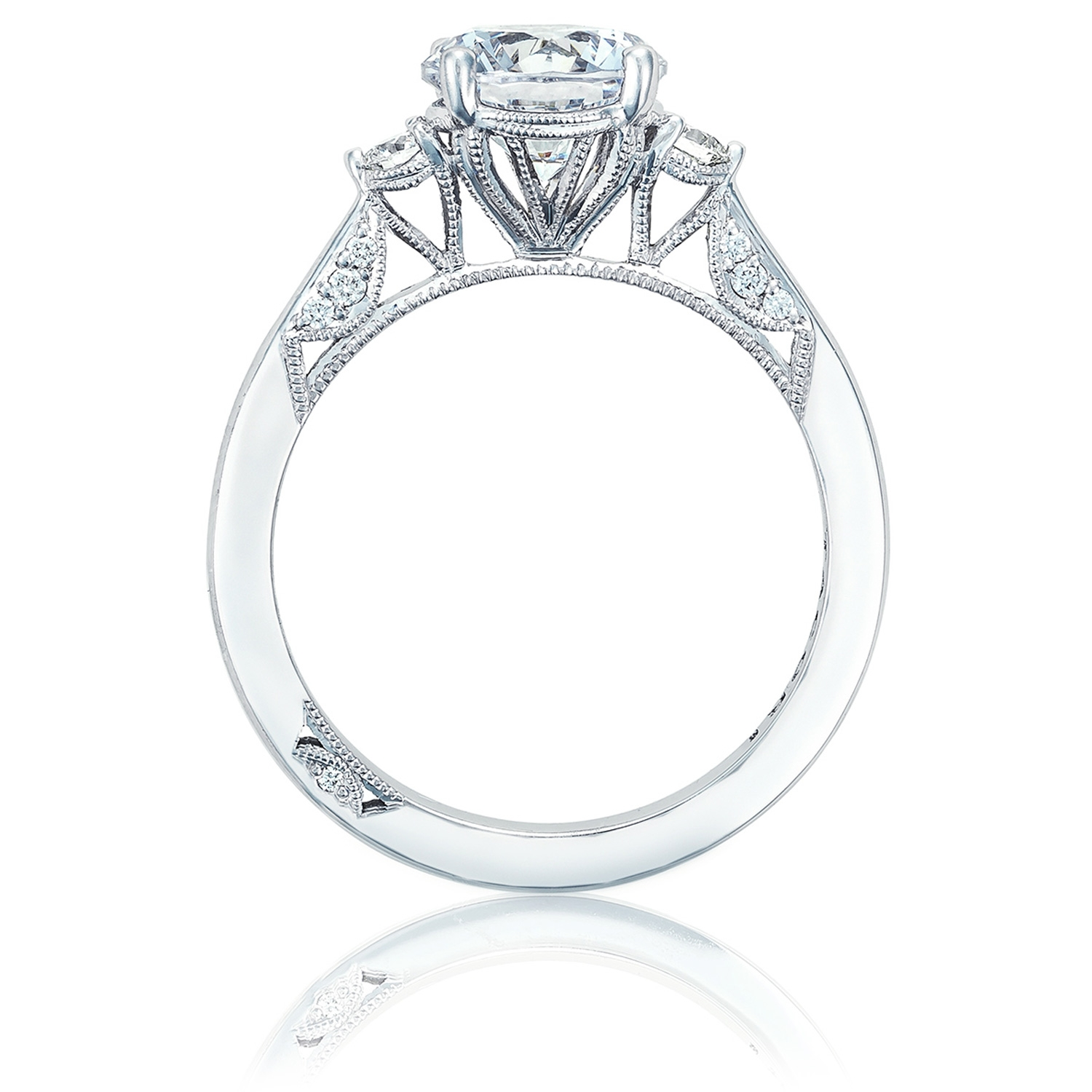 2656RD75 Platinum Simply Tacori Engagement Ring Alternative View 1
