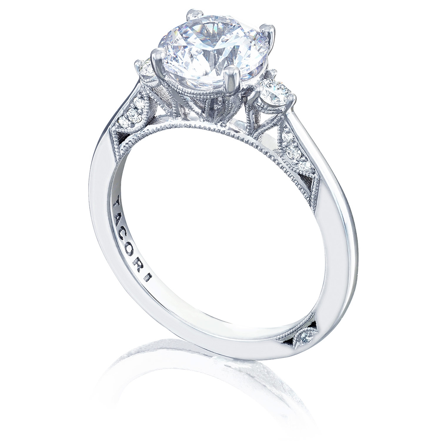 2656RD75 Platinum Simply Tacori Engagement Ring Alternative View 2