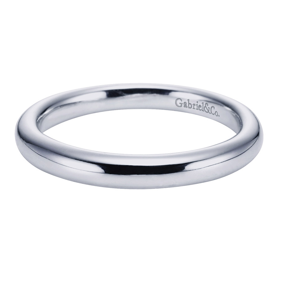 Gabriel Platinum Contemporary Wedding Band WB6601PTJJJ