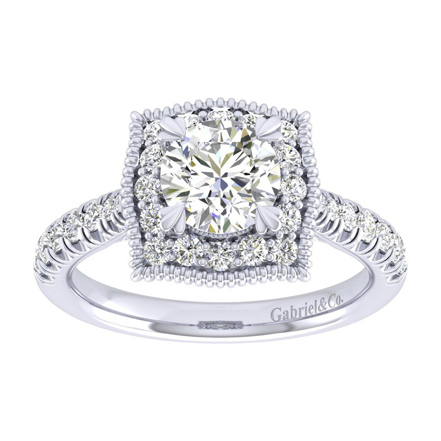 Gabriel 14 Karat Perfect Match Engagement Ring ER039B4AAW44JJ Alternative View 4