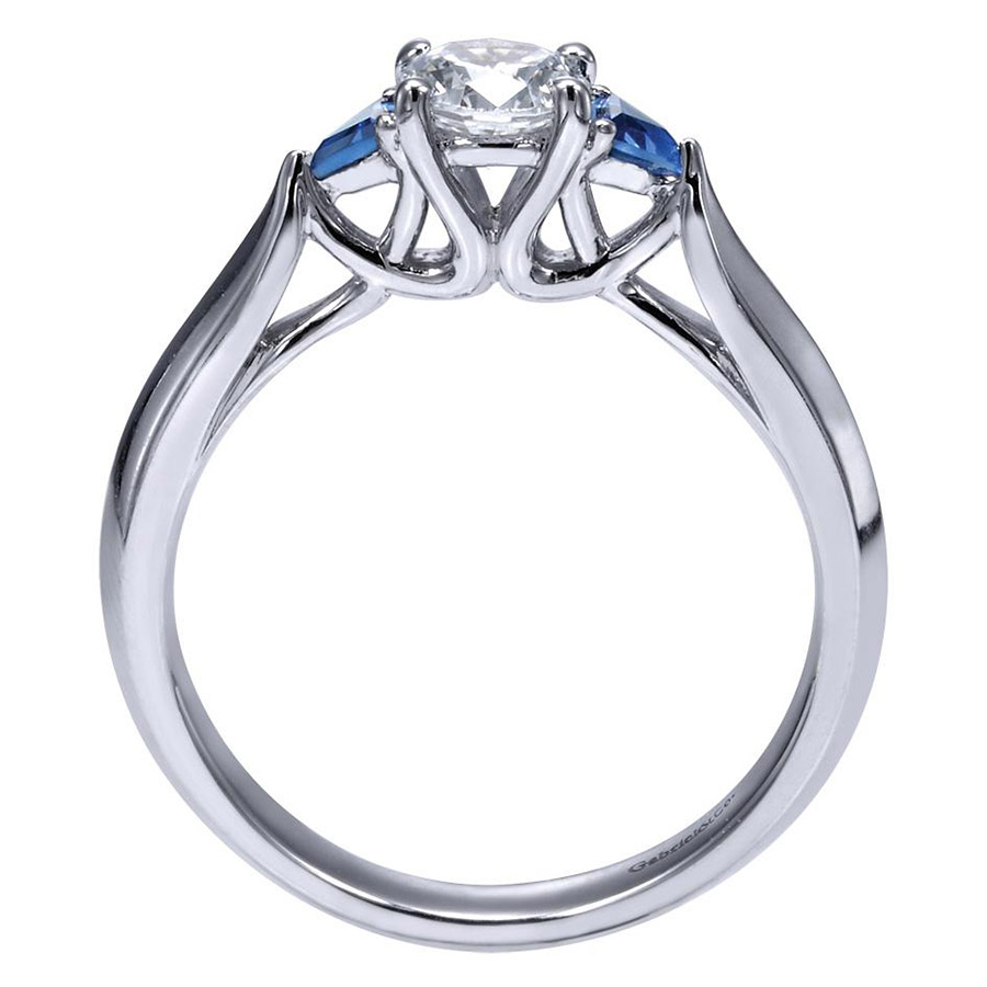Gabriel 14 Karat Contemporary Engagement Ring ER98685W44SA Alternative View 1
