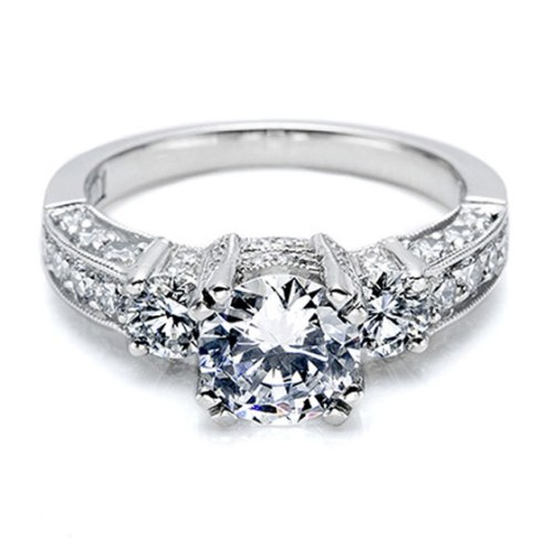 Tacori Crescent Platinum Engagement Ring HT2250