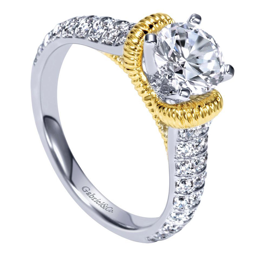 Gabriel 14 Karat Contemporary Engagement Ring ER9533M44JJ Alternative View 2