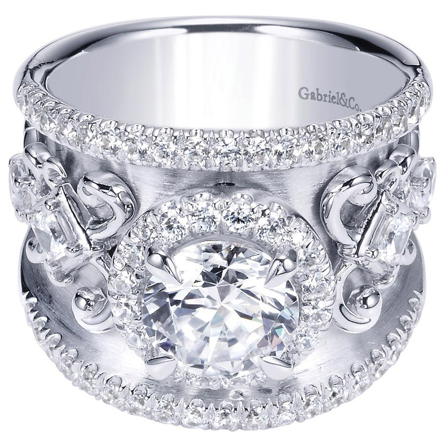Gabriel 14 Karat Contemporary Engagement Ring ER8453W83JJ