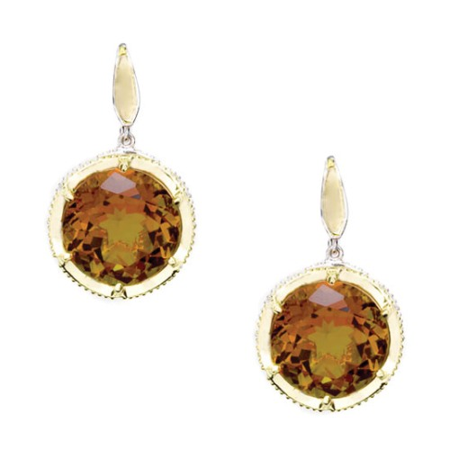 SE104Y06 Tacori Cognac Quartz Earrings