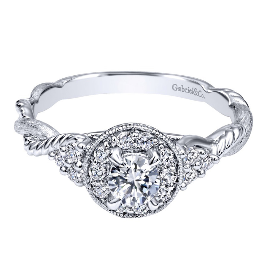 Gabriel 14 Karat Contemporary Engagement Ring ER910767W44JJ