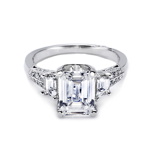 Tacori Platinum Simply Tacori Engagement Ring 2579SMEM7X5 Alternative View 2